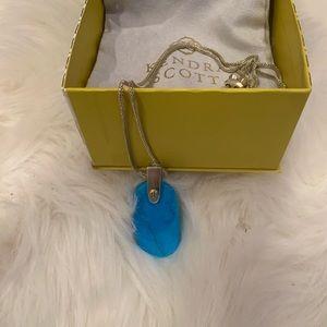 Kendra Scott Inez Aqua Howlite Pendant Necklace